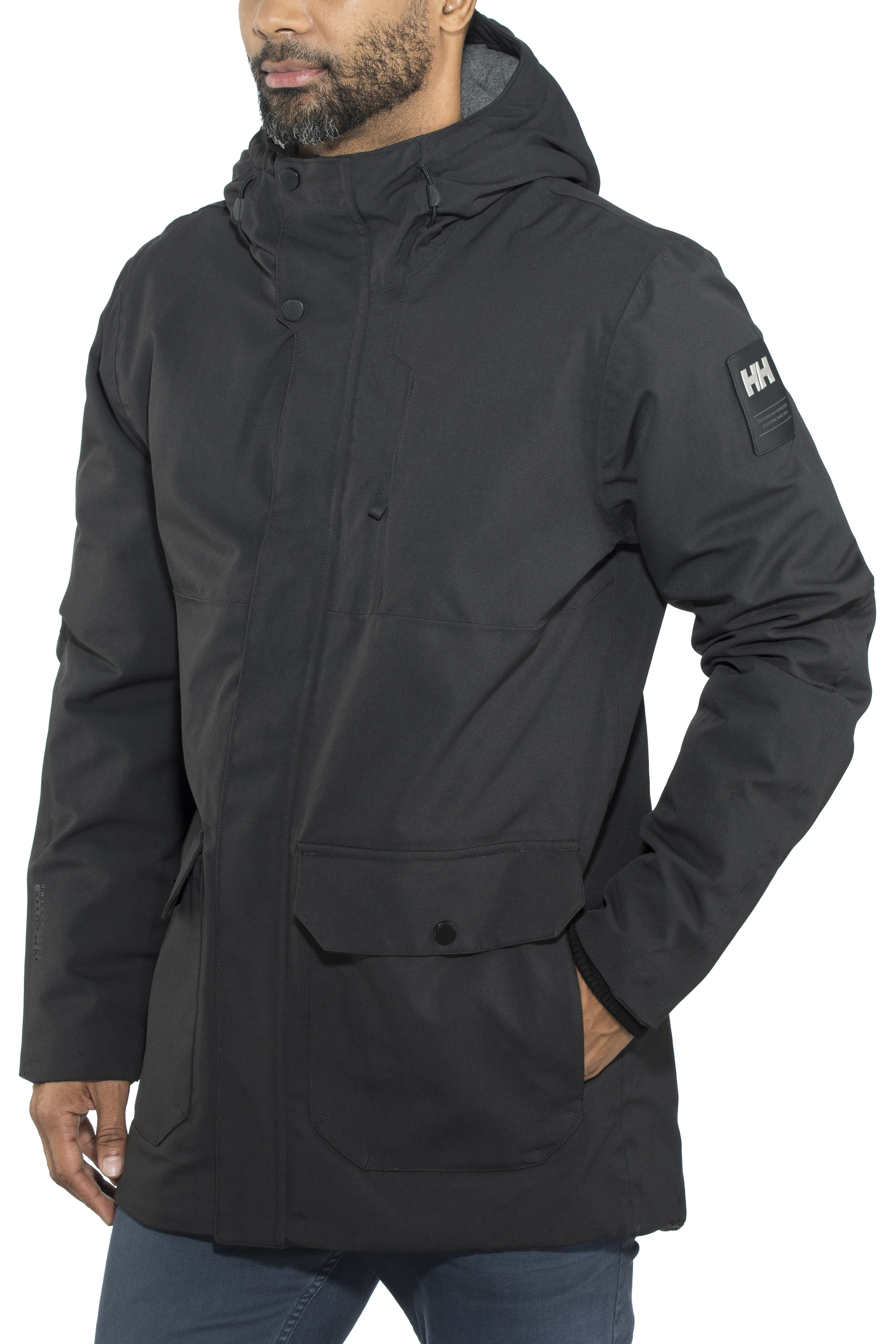 7c52521557 Helly Hansen Urban Long Jacket Herren black | campz.de